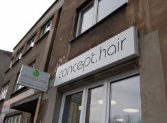 Kasetony reklamowe, salon fryzjerski