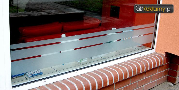 Folia mrożone szkło