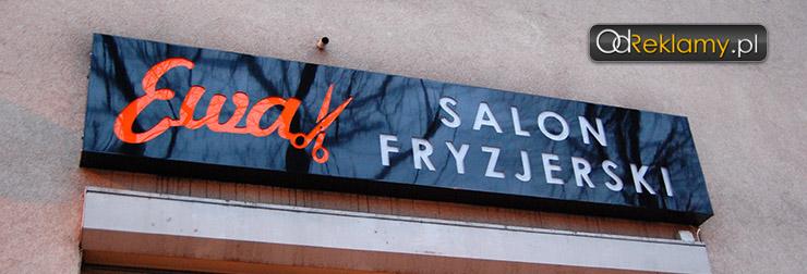 Kaseton z dibondu dla salonu fryzjerskiego