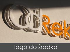 logotyp do biura, nad recepcję, logo wewnętrzne