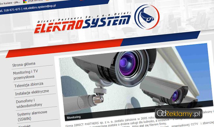 Strona internetowa Elektrosystem - Bytom