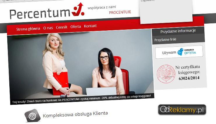 Strona internetowa biura rachunkowego