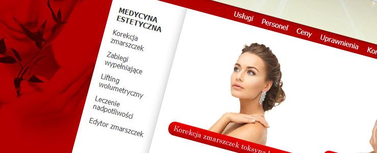 Wykonanie strony internetowej dla gabinetu medycyny estetycznej